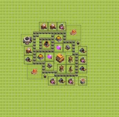 Как лучше сделать базу в clash of clans 7 тх