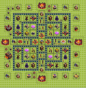 Clash of clans расстановка 10
