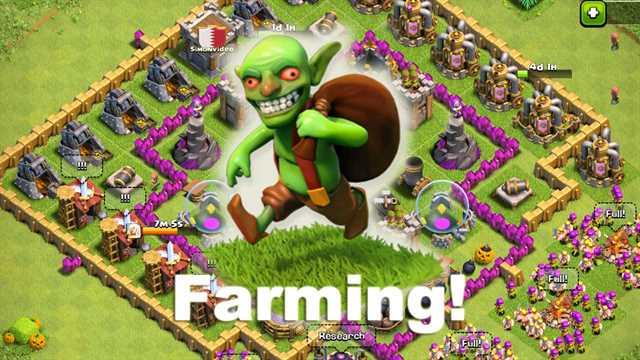 Основы фарма в CLash of Clans