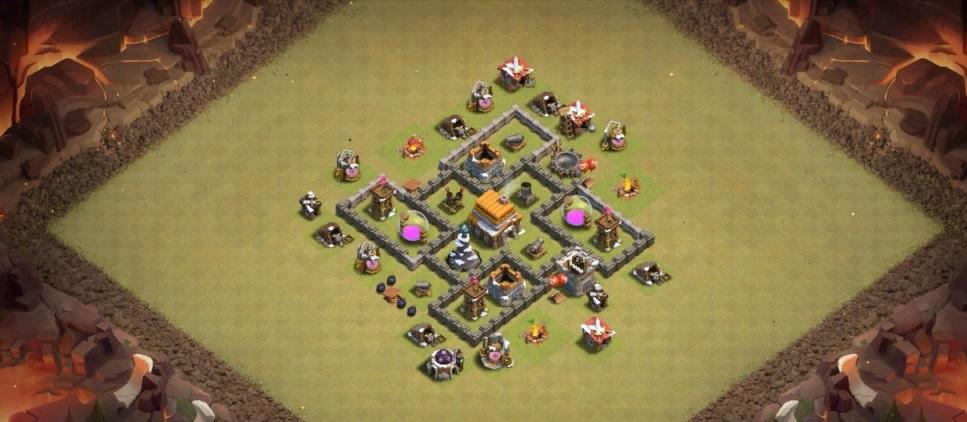 Clash of Clans расстановка базы ратуша